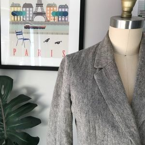Tabitha • Cropped Linen Blazer